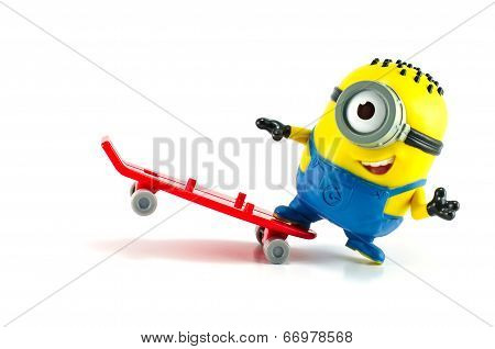 Carl Rocket Minion Mcdonalds Happy Meal Toy