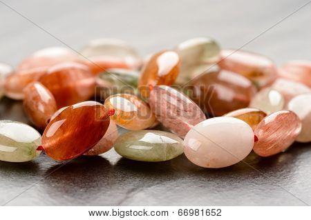 Strand Of Rutile Quartz Beads