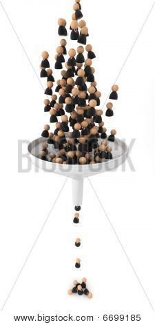 Business Symbols, Crowd Funnel
