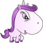Angry Mean Unicorn Pony Vector Illustration Art poster