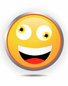 yellow smiley face on white background design poster