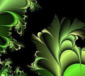 Green fantasy illustration poster