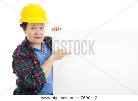 Construction Worker With Message