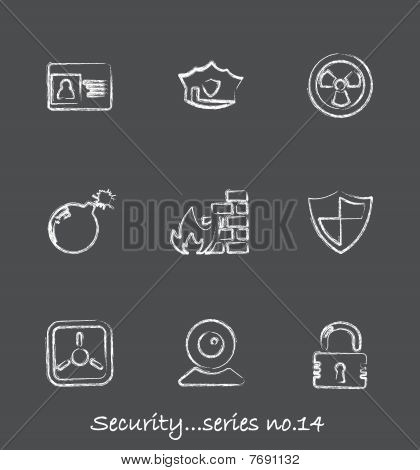 Security chalkboard icons...series no14