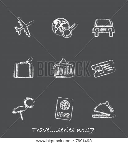 Travel chalkboard icons...series no.17