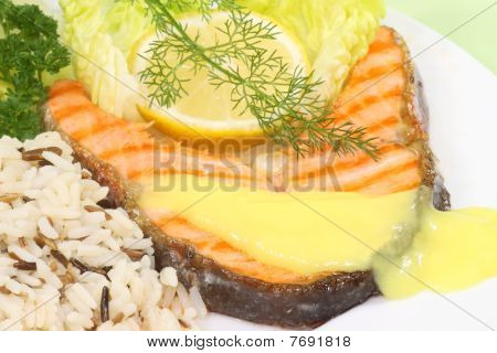 Grilled Salmon Trout