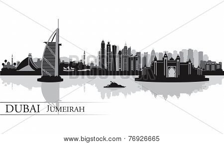 Dubai Jumeirah skyline silhouette background