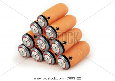 Green Energy Batteries Concept With Carrots