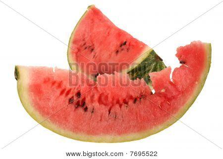 Two Slice Of Ripe Watermelon.
