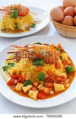 Thai Food Melet With Prawn In Sweet And Sour Sauce.