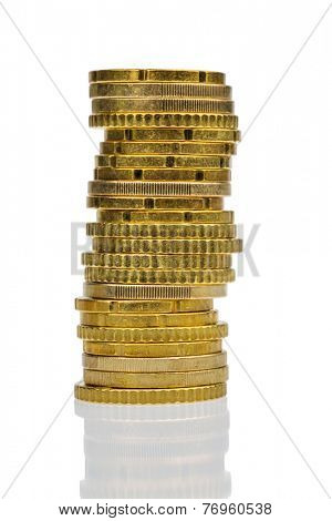 a stack of coins, symbolic photo for finance, savings and reserves