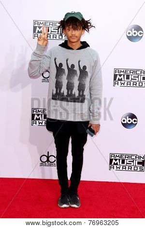 LOS ANGELES - NOV 23:  Jaden Smith at the 2014 American Music Awards - Arrivals at the Nokia Theater on November 23, 2014 in Los Angeles, CA
