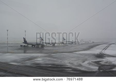 Airport And Snow