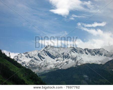 Mountain ridge in Austria