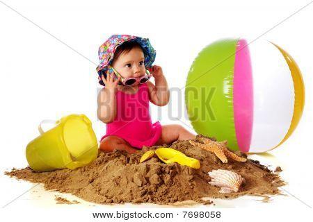 Sunglass Babe At Play