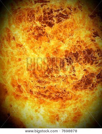Fireball closeup