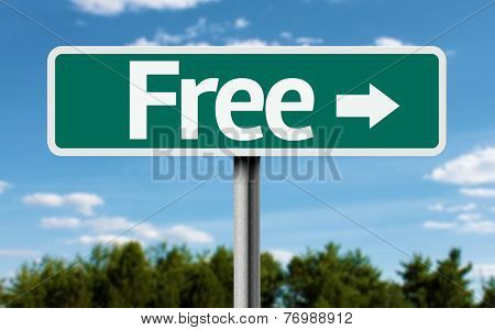 Free creative green sign