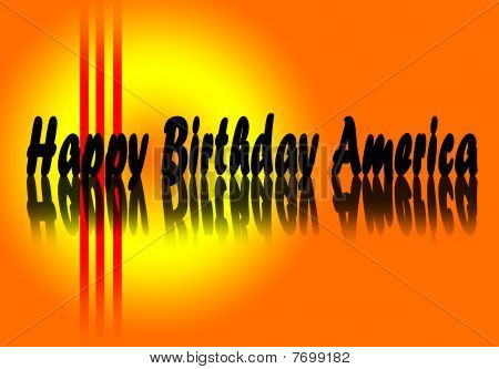 Happy Birthday united states of America wishes poster