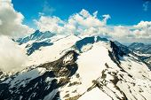 Mountains panorama in the high Alps Austria poster