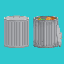 Vector Trash Cans, Two Icon Xxl
