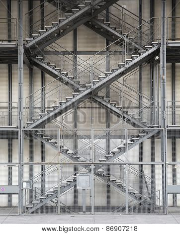 Architectural detail of stairs in formation