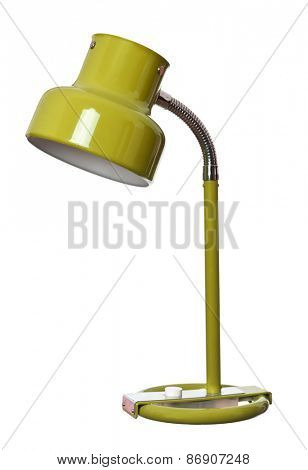 Vintage Yellow lamp isolated on a white background