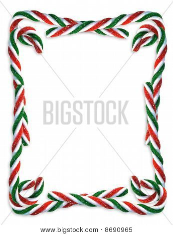 Christmas Candy Cane border