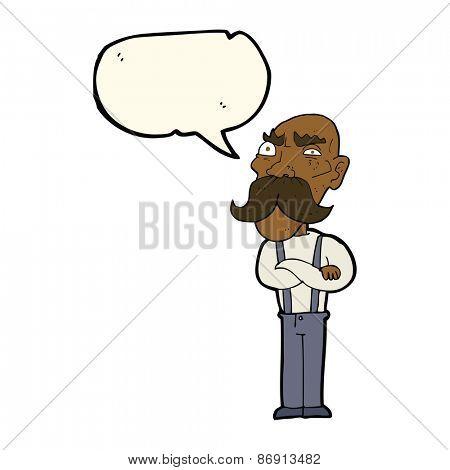 cartoon grumpy old man