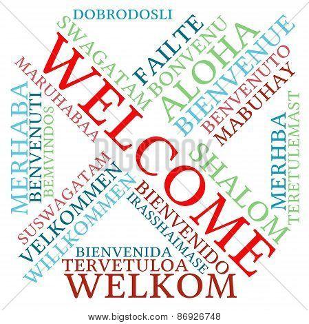 Welcome International Word Cloud