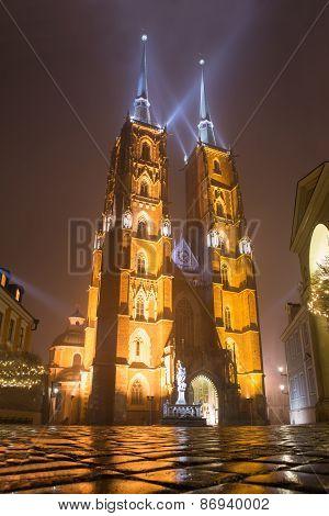 Illuminated Cathedral Of St. John