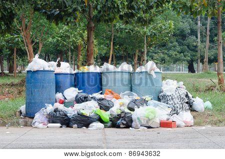 Overflowing Garbage Bins
