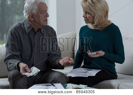 Elder Marriage Having Financial Problems