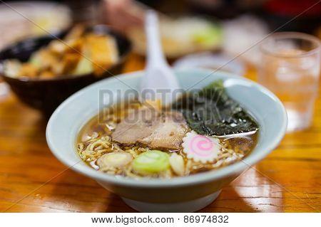 Delicious Ramen Japanese noodle soup dish poster