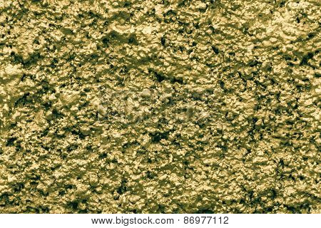 Bumpy Wall Surfaces Of Golden Color