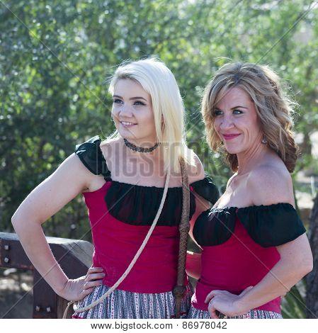 A Pair Of Saloon Girls Of Old Tucson, Tucson, Arizona