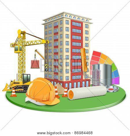 Vector Living Block Construction