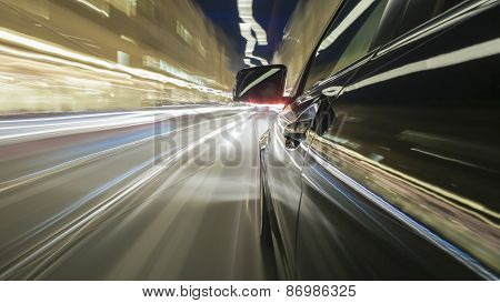 onboard a driving car