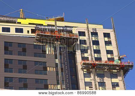High Rise Construction Portland Oregon.