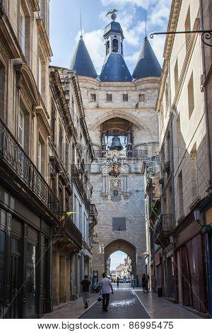 Ancient  Porte Cailhau In Bordeaux, France