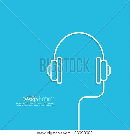 Headphones with a wire
