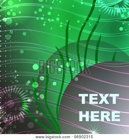 Sea Background With Place For Text
