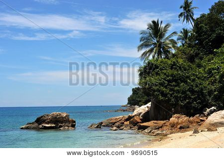 exotic dream beach at the perhentian islands,malaysia