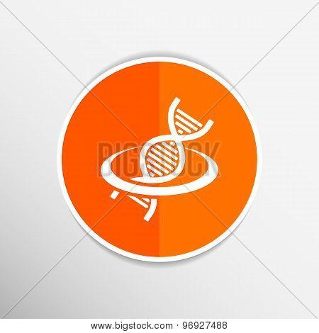 Vector DNA icon life strand symbol curve graphic genetic