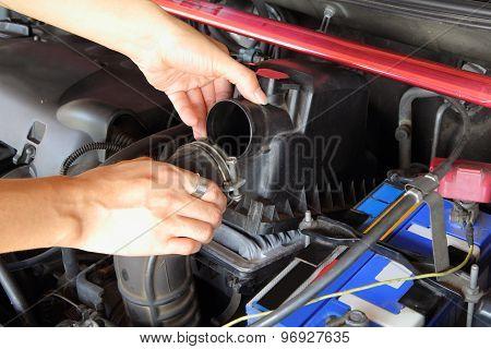 open car air filter box