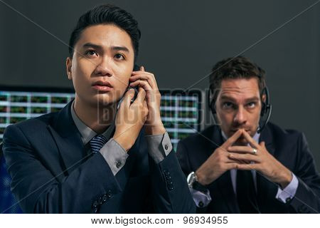 Worried Business Brokers