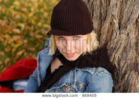 Cap And Scarf Woman