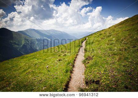 Mountain path in Fagaras, Romania