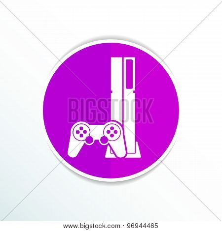 poster of Game controller icon video gaming game electronics.