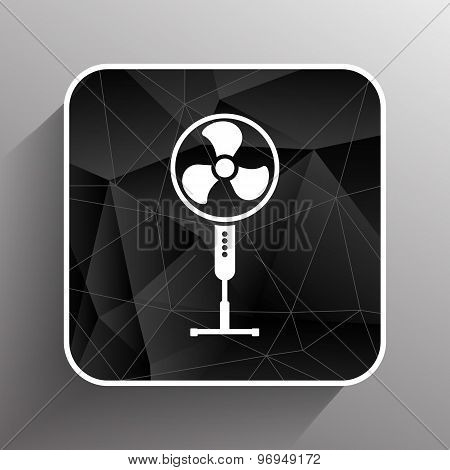 wind turbine icon vector sign cooler rotation. poster