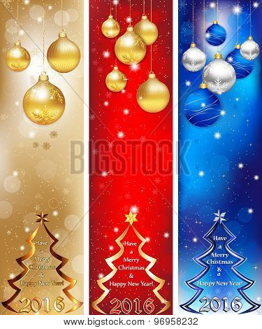 Skyscraper web Banner set for 2016 winter holiday